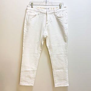 Kate Spade Ankle Cropped Skinny Jeans White Size 8